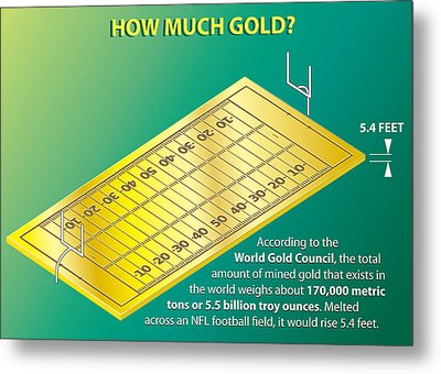 How Much Gold Metal Print by Greg Joens