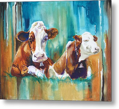 How Now Brown Cow Metal Print by P Maure Bausch