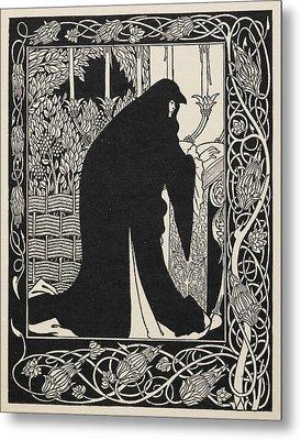 How Queen Guenever Made Her A Nun Metal Print