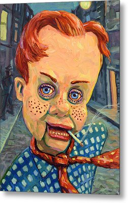 Howdy Von Doody Metal Print by James W Johnson