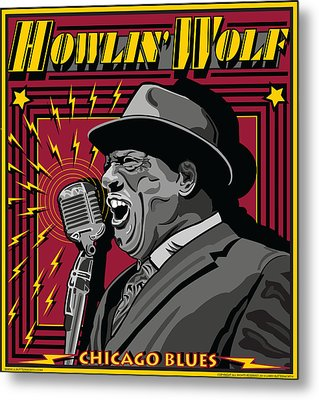 Howlin' Wolf Chicago Blues Legend Metal Print by Larry Butterworth