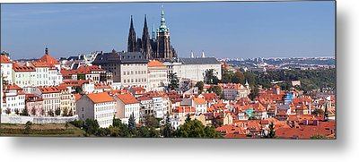 Hradcany Castle With St. Vitus Metal Print by Panoramic Images