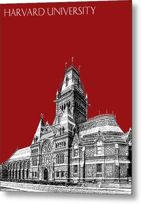 Harvard University - Memorial Hall - Dark Red Metal Print by DB Artist