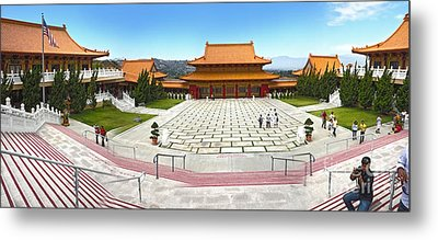 Hsi Lai Temple - 07 Metal Print by Gregory Dyer