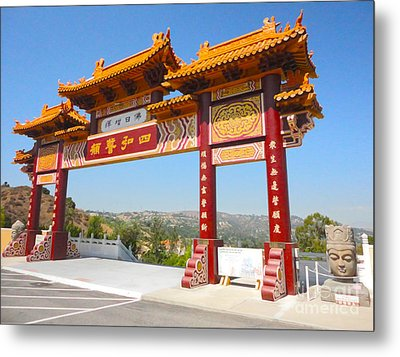 Hsi Lai Temple - 10 Metal Print by Gregory Dyer