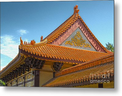 Hsi Lai Temple - 01 Metal Print by Gregory Dyer