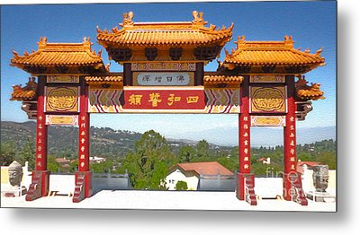 Hsi Lai Temple - 11 Metal Print by Gregory Dyer
