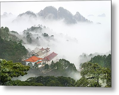 Huangshan National Park Metal Print by King Wu