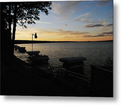 Hubbard Lake Sunset Metal Print