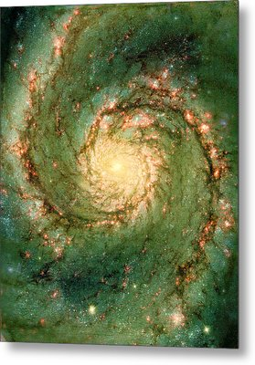 Hubble - The Heart Of The Whirlpool Galaxy Metal Print by Paulette B Wright