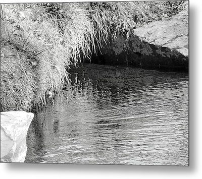Huck Finn And The Water Cave Metal Print by Lenore Senior