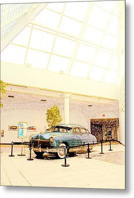 Hudson Car Under Skylight Metal Print