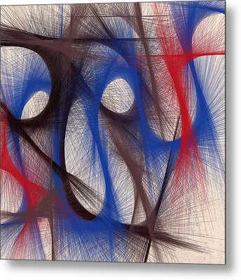 Hues Of Blue Metal Print by Marian Palucci-Lonzetta