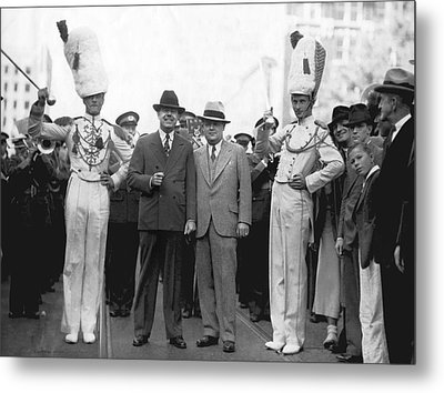 Huey Long And Governor Conner Metal Print