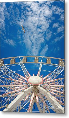 Huge Ferris Wheel Metal Print