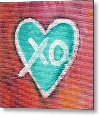 Hugs And Kisses Heart Metal Print by Linda Woods