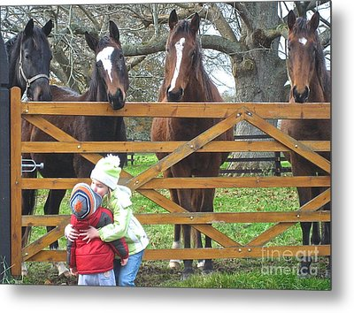 Hugs And Kisses Metal Print by Suzanne Oesterling
