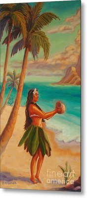 Hula Aloha Metal Print by Janet McDonald