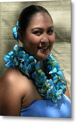 Hula Blue Metal Print by James Temple