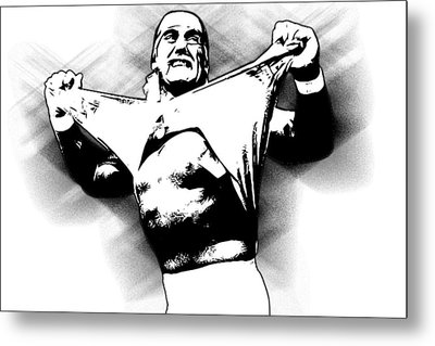 Hulk Hogan By Gbs Metal Print by Anibal Diaz