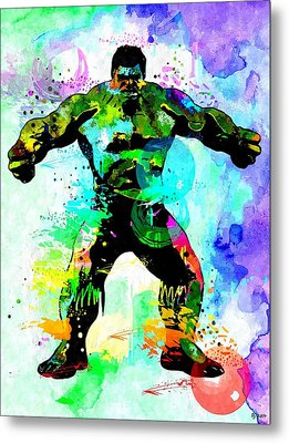 Hulk Watercolor Metal Print