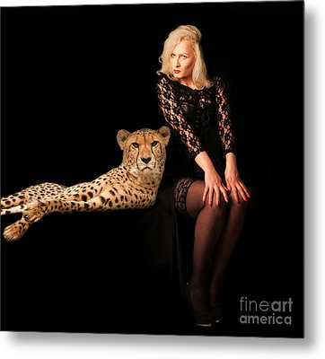 Metal Print featuring the photograph Human And Animal by Christine Sponchia