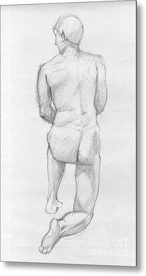 Human Figure From Back Metal Print