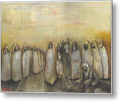 'humble Procession Of The King' Metal Print