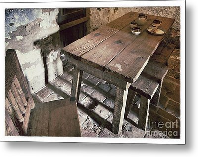 Humble Table Metal Print by John Castell