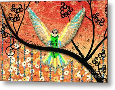 Metal Print featuring the digital art Hummer Love by Kim Prowse