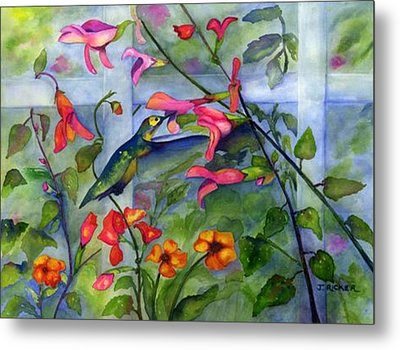 Hummingbird Dance Metal Print