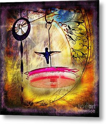 Hummingbird Dance Metal Print by Rhonda Strickland