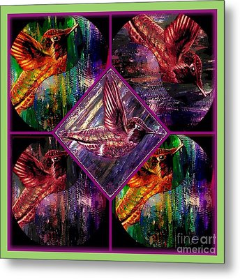 Hummingbirds Far Out And Groovy Man Metal Print