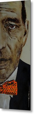 Metal Print featuring the painting Humphrey  Bogart #2 by Eric Dee