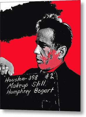 Humphrey Bogart The Maltese Falcon Makeup Photo Metal Print by David Lee Guss
