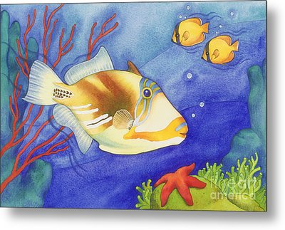 Humu Picasso Triggerfish Metal Print