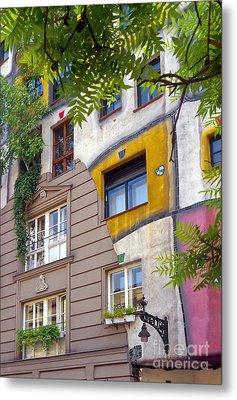 Hundertwasser House Metal Print by Bob Phillips