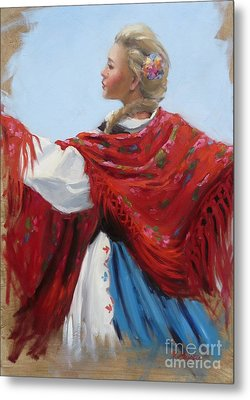 Hungarian Folk Dancer Metal Print