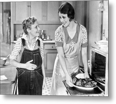 Hungry Teen At Dinnertime Metal Print by Underwood Archives