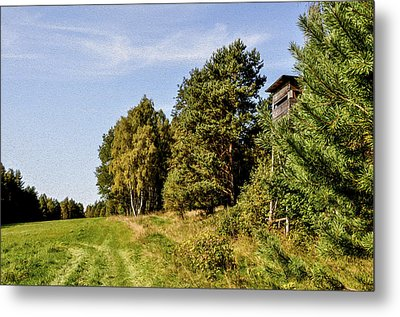 Hunter Lookout Metal Print by Aged Pixel