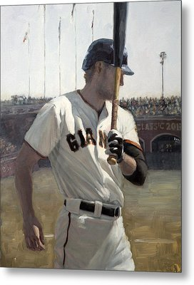 Hunter Pence On Deck Metal Print by Darren Kerr