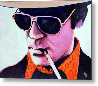 Hunter S Thompson Metal Print by Bob Baker