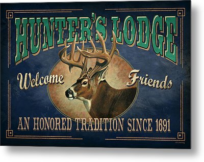 Hunters Lodge Deer Metal Print