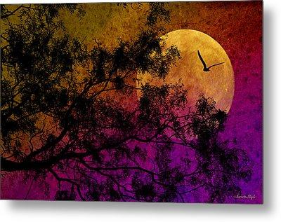 Hunter's Moon Metal Print by Karen Slagle