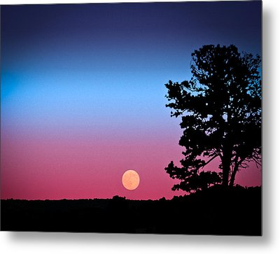 Metal Print featuring the photograph Hunter's Moonrise In Eastern Arizona by John Haldane