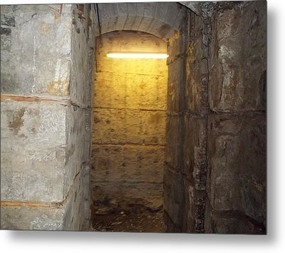 Hunthall Stone Doorway Metal Print