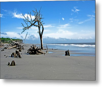 Metal Print featuring the photograph Hunting Island - 1 by Ellen Tully