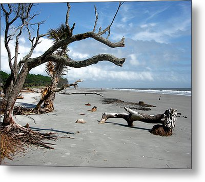 Metal Print featuring the photograph Hunting Island - 7 by Ellen Tully