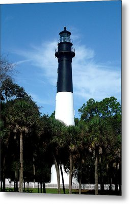 Metal Print featuring the photograph Hunting Island Lighthouse by Ellen Tully