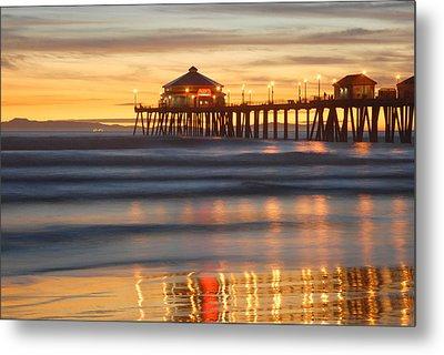 Huntington Beach Pier Metal Print